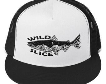 Rushing River Fishing Wild Slice Embroidered Trucker Cap