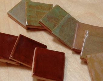 Craftsman glaze samples, Bungalow fireplace tile samples, Kitchen backsplash glazes