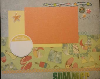 Days of Summer 12x12 Premade Scrapbook Page
