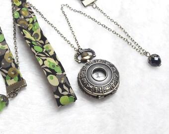 Pocket Watch Pocket Liberty black & Green