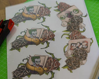 Arkham City: Harley Quinn tattoos Sheet (fan art - based on Arkham City)