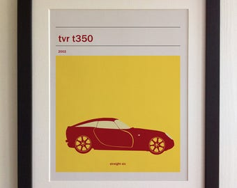 FRAMED TVR T350 Print - Black/White Frame, Birthday, Anniversary, Father's Day, Christmas, Fab Picture Gift