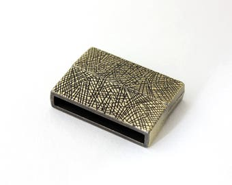 Bronze textured magnetic clasp for cuff 31 x 22 mm