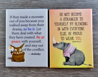 Dodinsky etsy quote magnets set of 2 featured sale cute magnets home decor inspirational solutioingenieria Choice Image