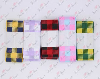 "1.5"" Plaid Ribbon - Destash - Lot 2"