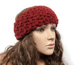 Women Headband - Ear warmer headband - Boho headband - Crochet ear warmer - Turban Headband - Winter headband