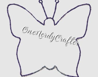 Butterfly Flasher Feltie Embroidery Digital Design File