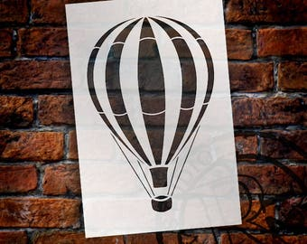 Vintage Hot Air Balloon - Art Stencil - Select Size - STCL1261 by StudioR12