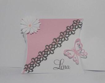 Flower candy pillow box