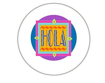 "Hola Envelope Seals - 1.2"" Stickers - 144 Hello Stickers - 25132"