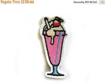 HALF PRICE Ice Cream Sundae Embroidered Patch Appliqué