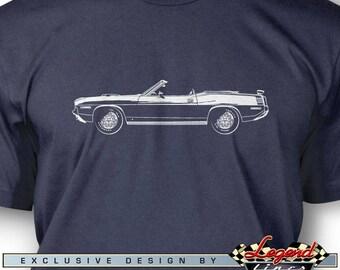Plymouth Barracuda U0027Cuda 1970 Convertible HEMI T Shirt For Men   Multiple  Colors