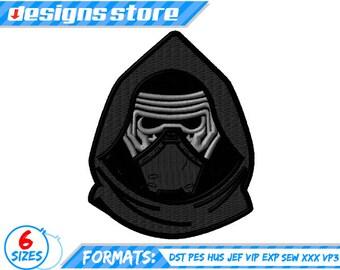 STAR WARS EMBROIDERY Kylo Ren design BB8 machine pattern Star Wars Inspired Character