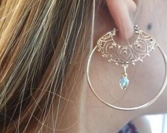 Tribal earrings, boho earrings, ethnic earrings, bohemian earrings, gypsy earrings, gold dangle earrings, boho jewelry, vintage bohemian