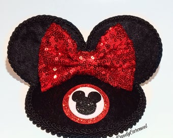Miss Mouseketeer Black Velvet Mickey Mouse Club Inspired Ears Fascinator