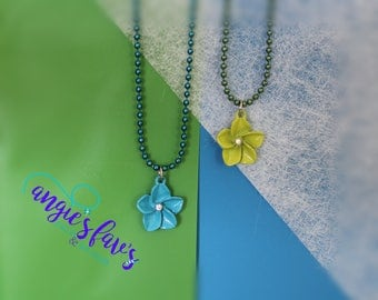 Ball Chain Necklaces, Hibiscus Flowers