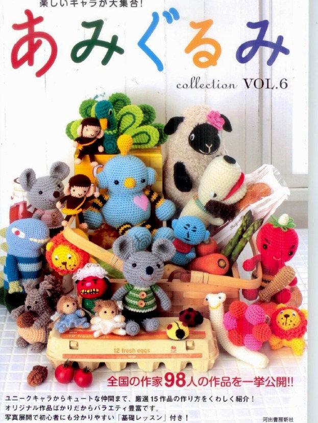 "JAPANESE CROCHET PATTERN-""Amigurumi Collection Vol.6""-Japanese ..."