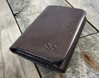 Kangaroo Leather Wallet, Personalised Leather Wallet, Kangaroo Leather Trifold Wallet, Mens Leather Trifold Wallet, Mans Leather Wallet
