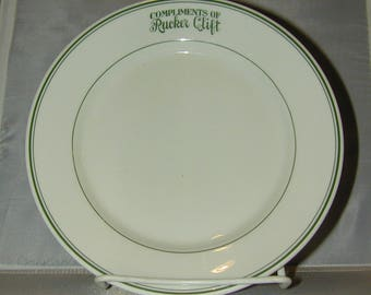 Carr China Restaurant Ware Plate Compliments of Rucker Clift One of a Kind Sample?