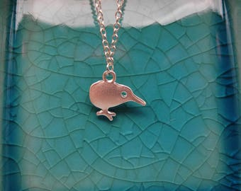 Dainty Kiwi Bird New Zealand Charm Pendant Necklace Kids Teen Wedding Gift
