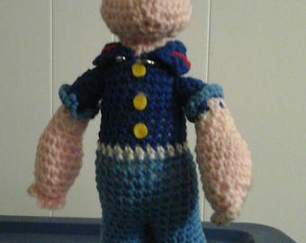 Knit Popeye Doll