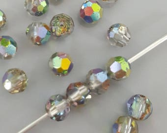 Swarovski 4mm Round (5000) Faceted Crystal Beads - VITRAIL - Select 10, 20 or 50 Beads