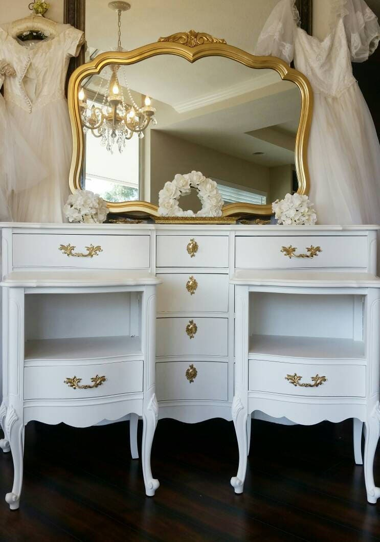 Reserved Royal French Gold White Glam Boudoir Chic Bedroom