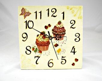 Wall clock /Sweet Cakes/ Kitchen Decor/Free Shipping