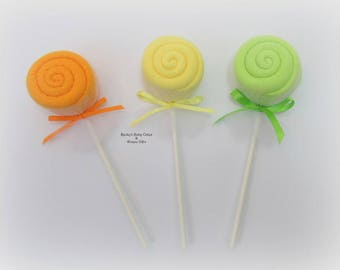 Baby Washcloth Favor, Washcloth Lollipop, Baby Shower Favors, Baby Shower Decoration, Candy Baby Shower, Baby Shower Game Prize, Party Favor