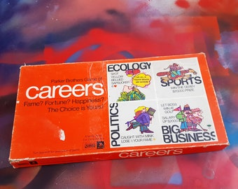 70s Game, Parker Brothers Game of Careers, Vintage Game