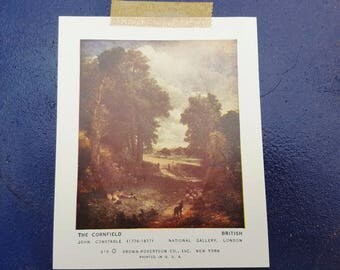 The Cornfield Vintage Print, John Constable, Vintage Art