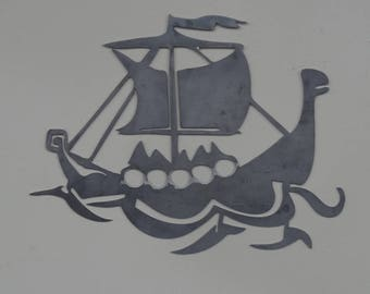 Viking Longship Design Wall Art
