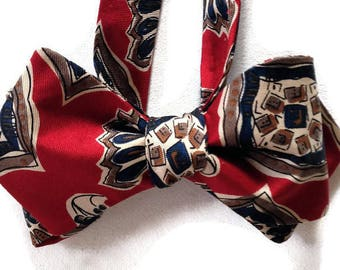 Silk Bow Tie for Men - Milan - One-of-a-Kind, Handcrafted, Self-tie - Free Shipping