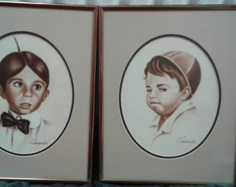 Two Little Rascal Pastell/ Signed Cinardo