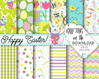 easter bunny paper pack bright easter bunny digital paper cute easter bunny paper pack easter eggs background