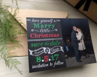 Marry Little Christmas Photo Save the Dates • Christmas Card • Christmas Save the Date • Christmas Wedding Save the Dates • Save the Date