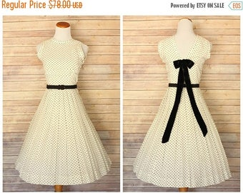 ON SALE 1950s Polka Dot Dress | 1950s dress | 1950s pat hartly dress | 1950s polka dots dress | 50s cotton dress |  Pat Hartly dress