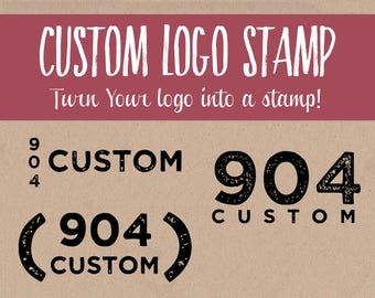 Custom Logo Stamp - Custom Rubber Stamp with Logo - Logo Custom Stamp - Business Logo Stamp