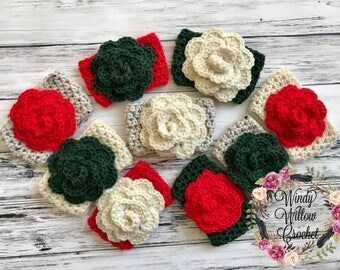 "RTS / The ""Christmas Flower"" Cozie / Cozies / Coffee Cozie / Tea Cozie / Tumbler Cozie / Crochet Cozie"