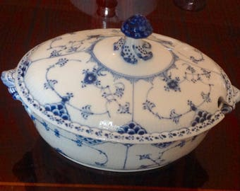 Royal Copenhagen Half Lace Soup Tureen