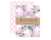 Unicorn Floral - Pocket Journal Set of 2