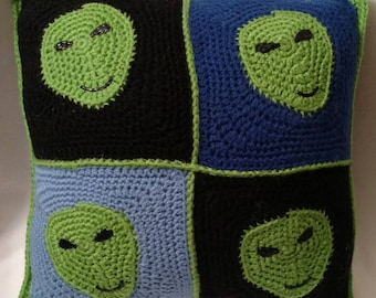 Crochet Alien Granny Square Pattern (PDF)
