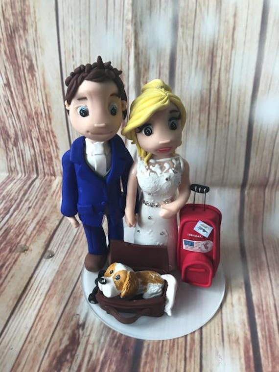 Wedding cake Topper Travel/Destination Wedding Fully Personalised a lovely keepsake - Bride and Groom/Same Sex/Wedding couple