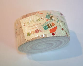 Jelly roll Mistletoe Lane by Bunny Hill of Moda Quilt Fabric  cotton Out of print hard to find