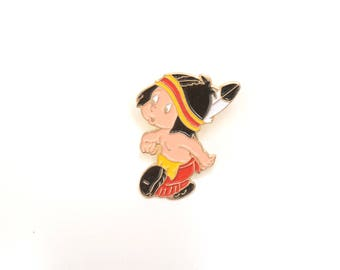 Lapel pin, enamel pin, native american lapel pin, native, cartoon enamel pin, little boy pins, enamel pin