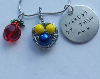 Snow White Themed Hidden Mickey Necklace