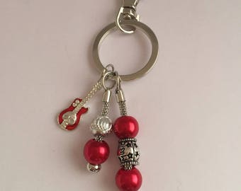 Keychain or purse charm, guitar ref 651