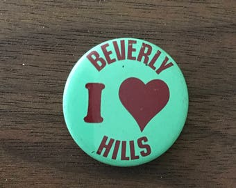 I Heart Beverly Hills Vintage Button