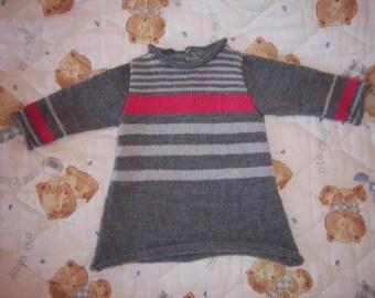Wool striped dress 3 months