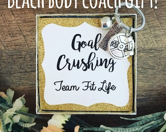 Keychain! Beachbody coach gift! Diamond Coach! Free gift wrap and personalization! Best friend gift! Workout gift! Inspirational gift!